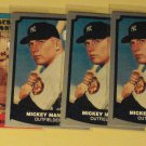 6 Mickey Mantle baseball cards, Baseball Legends & Immortals, NM/M, New York Yankees
