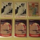 6 Red Shoendienst baseball cards, Donruss, Baseball Legends, NM/M
