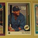 3 Gary Sheffield baseball cards, Rookie RC, Fleer, Donruss, Upper Deck, , NM/M
