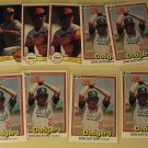 9 Don Sutton baseball cards, Donruss, NM/M