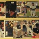 9 Frank Thomas baseball cards, Donruss, Leaf, Fleer, Upper Deck, NM/M