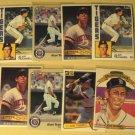 8 Alan Trammell baseball cards, Donruss, Fleer, Topps, NM/M