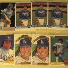8 Fernando Valenzuela baseball cards, Donruss, Fleer, NM/M