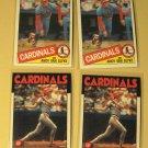 4 Andy Van Slyke baseball cards, 1985 & 1986 Topps, NM/M