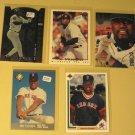 5 Mo Vaughn baseball cards, Upper Deck, Fleer, Topps, Leaf, NM/M
