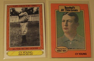 2 Cy Young Baseball Cards Tcg Baseballs All Time Greats Nmm