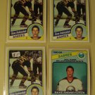4 Dave Andreychuk Hockey cards, Topps, OPC. NM