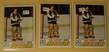 Three (3) 1977/78 Topps Mike Palmateer Hockey card #211, RC Rookie, Toronto Maple Leafs