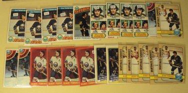 24 Gilbert (Gil) Perreault Hockey cards, Topps, various years