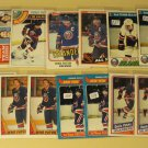 17 Denis Potvin Hockey cards, Topps, various years