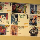 "1997 Marvel Comics & Wizard magazine sheet of comic book gift tag stickers. 5.5"" x 8.5"""