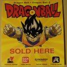"DragonBall Z sold here window door sign sticker decal, 5"" x 5.5"""