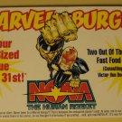 Marvel Comics Marvel Burger promo promotional coupon for Nova #1, 1999