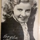 Gloria DeHaven arcade vending machine exhibit card, VG condition