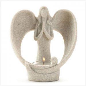 GRACEFUL ANGEL CANDLEHOLDER