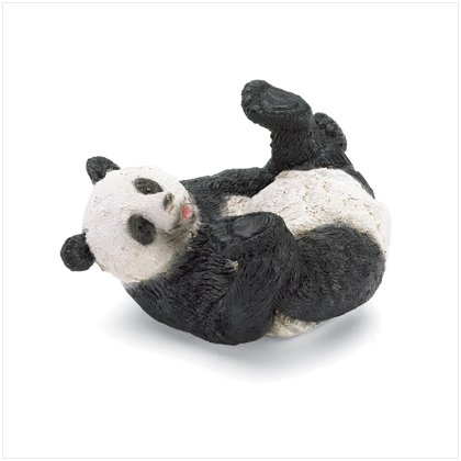 PANDA ON BACK FIGURINE