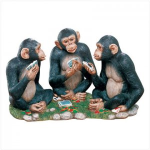 POKER PLAYING CHIMPS
