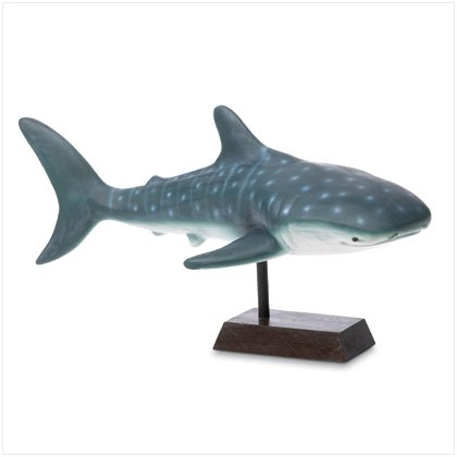 CERAMIC SHARK FIGURINE ON BASE