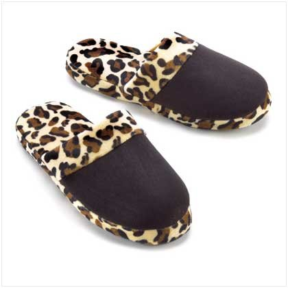 LEOPARD PRINT SLIPPERS -LARGE