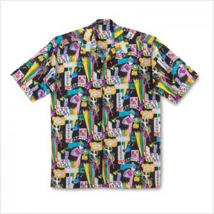 GAMES GALORE MEN CAMP SHIRT 2X