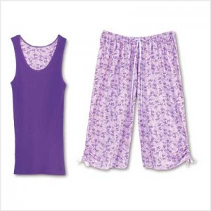 LAVENDER LEAVES PJ SET - SMALL