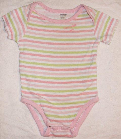 Calvin Klein one piece onesie 3-6 months shirt bodysuit   001119