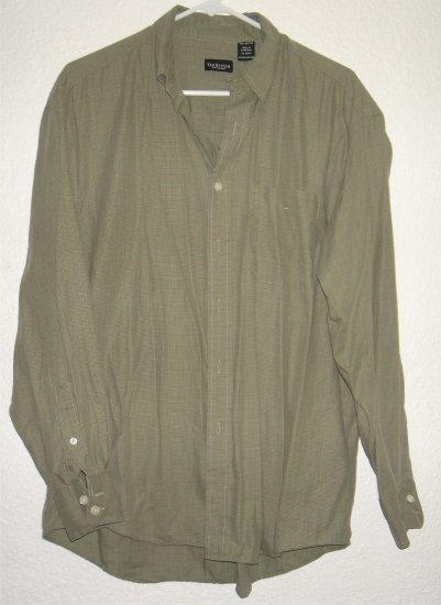 VanHeusen button front shirt sz Medium 15 15-1/2 00219