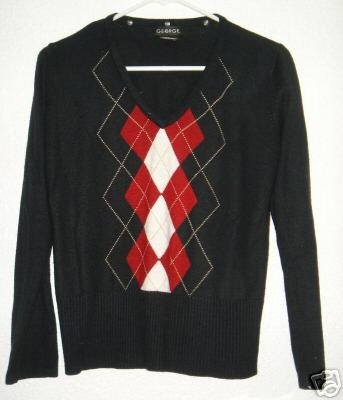George sweater shirt sz Medium 8 / 10 00302