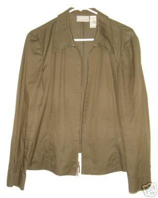 Liz Claiborne jacket shirt sz 12 00448