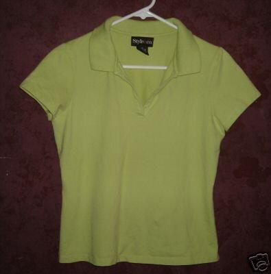 Style & Co polo style shirt sz Medium 00476