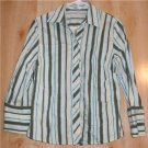 Old Navy button front shirt Medium perfect fit stretch   001207