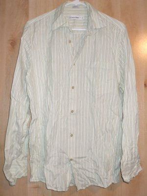 Calvin Klein button front shirt sz Medium mens   001231