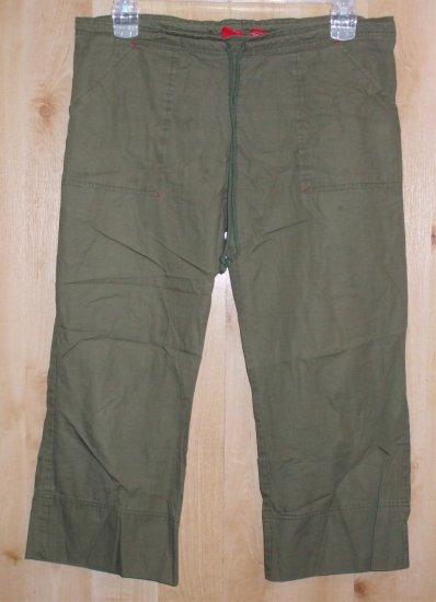 Mossimo pants sz Medium womens  capri cropped   001243