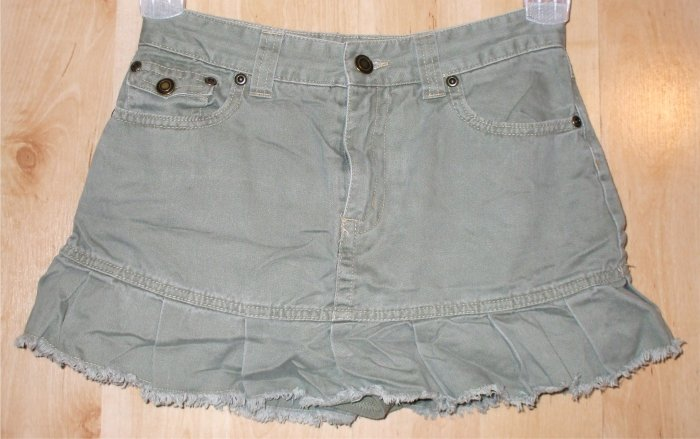 Greendog skirt sz 12 girls shorts cute green  001342
