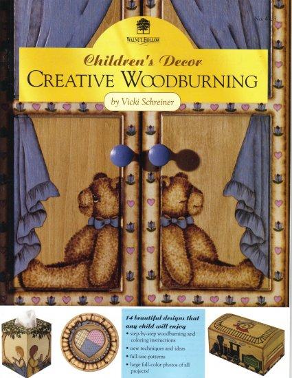 Creative Woodburning Childrens Decor Walnut PATTERNS