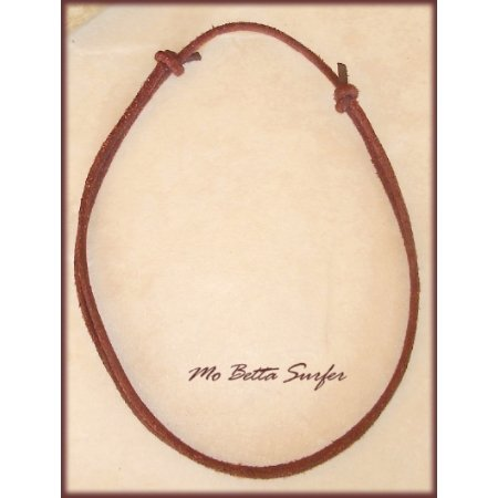 3 mm  Aged and Distressed Adjustable Leather Cord Surfer Necklace