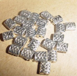 Ornate Square Pillow Spacer Beads - Free Shipping