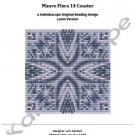 Mauve Flora 14 Coaster — A Kaleidoscope Original Beading Design Loom Version