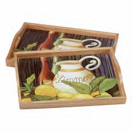 Limone Wood Trays