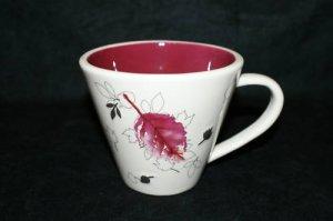 Starbucks Fall Leaves Maroon coffee Mug 10oz 2007 MINT