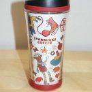 Starbucks Holiday Travel Tumbler 8 oz Presents 2009