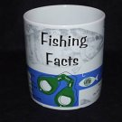 Starbucks Coffee FISHING Facts JUMBO Mug 1997 HTF EUC