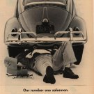 Vintage 1961 Our Number One Salesman Volkswagen AD
