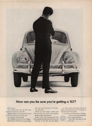 Vintage How do you know 1962 Volkswagen VW Car AD