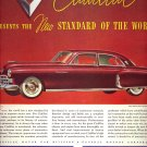 Vintage 1948 Red Cadillac Auto Car AD