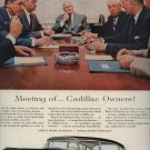 Vintage 1955 Black Cadillac Meeting of Cadillac Owners AD