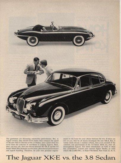 Vintage 1961 Jaguar XK-E vs Jaguar 3.8 Sedan Car AD