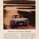Vintage Advertising 1960 White Chevrolet Sports Car Corvette Print AD
