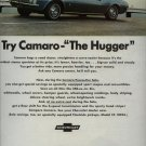 Vintage 1967 Chevrolet Chevy The Hugger Blue Camaro AD