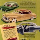 Vintage 1950 New Dodge Diplomat Car Print AD